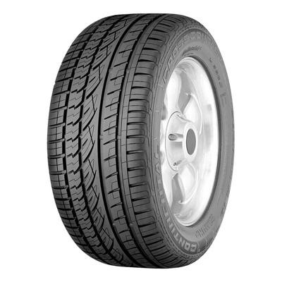 The bionic contour of the tire narrows the tire when moving and widens it when braking. This reduces the braking distance and ensures higher cornering stability. The tire's asymmetrical profile and outer rigidity guarantees exceptional cornering and a fun drive without compromising on safety. The four or five (depending on tire width) circumferential drainage grooves provide excellent protection against aquaplaning., Der ContiCrossContact™ UHP verbindet bei leistungsstarken, schnellen Fahrzeugen seine Hochgeschwindigkeitseignung mit hoher Kurvenstabilität, starkem Aquaplaningschutz, hervorragendem Handling und einer überdurchschnittlichen Bremsperformance.,