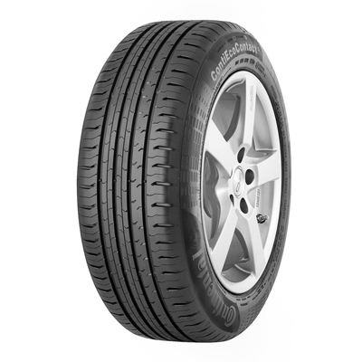 The ContiEcoContact™ 5 is the first true high performance tire in the rolling resistance optimized segment, that combines high braking security, minimum rolling resistance and a high mileage., Als High-Performance Reifen kombiniert der ContiEcoContact™ 5 hohe Sicherheit beim Bremsen mit sehr geringem Rollwiderstand für reduzierten Kraftstoffverbrauch und hohe Laufleistung.,