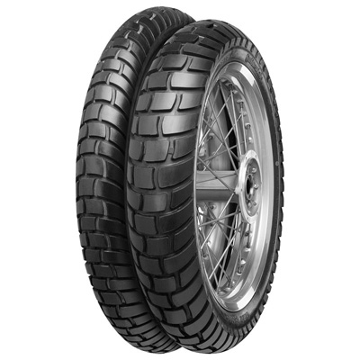 A special tyre for riders who are equally at home on tarmac and off-road., Eigenständiger Reifen für Endurofahrer, die auf der Straße und im leichten Gelände zuhause sind.,