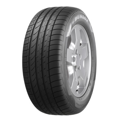 SP Quattromaxx, Tire shot - 3/4 view, Dunlop on top, Tire size: 255/55 R18.